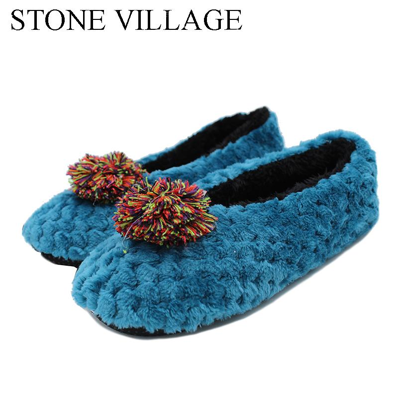 9901087cb5bc New Arrival 2017 Lovely Woolen Slippers Walking On The Carpet At Home  Cotton Shoes Floor Slippers Female Home Shoes Free Size Cowboy Boots Ankle  Boots From ...