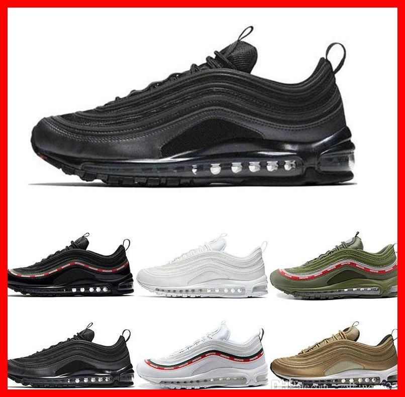 Best Quality 97 OG Tripel White Metallic Gold Silver Bullet Discount 97  WHITE 3M Premium Fashion Men Women Running Shoes Sport Sneakers Designer Shoes  Shoes ... 671ccf79d