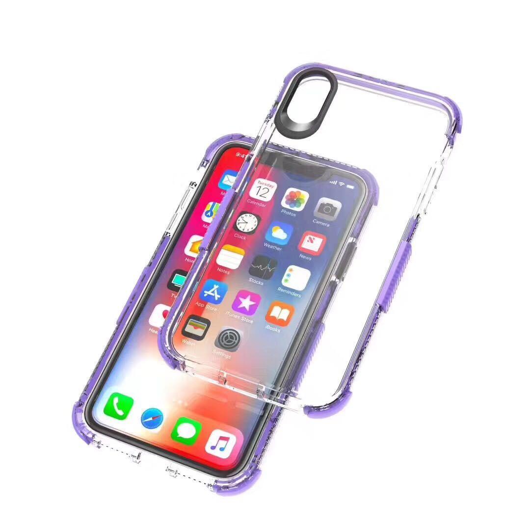 3907ca4cab0 Carcasa Celular Para IPhone X XS MAX XR Crystal Clear Carcasa De TPU  Amortiguador De Choque Suave Panel Trasero Transparente Para IPhone6 6S 7 8  Plus ...