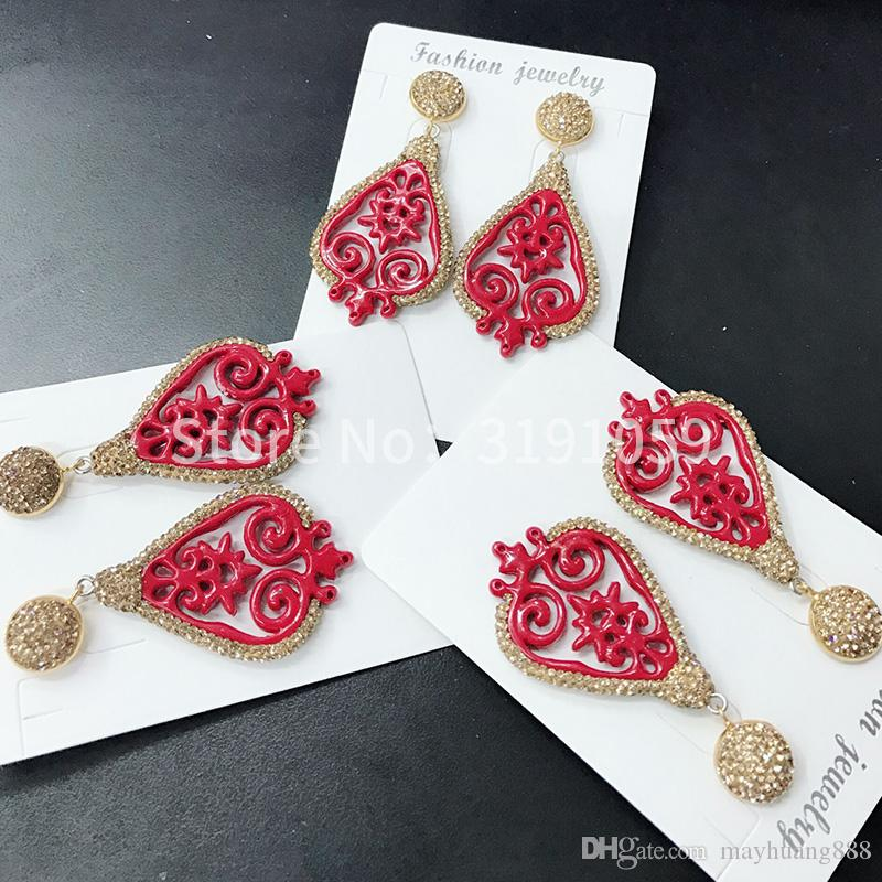 National style new Chinese style Chinese style fashion ear nail personality hollow earring jewelry female
