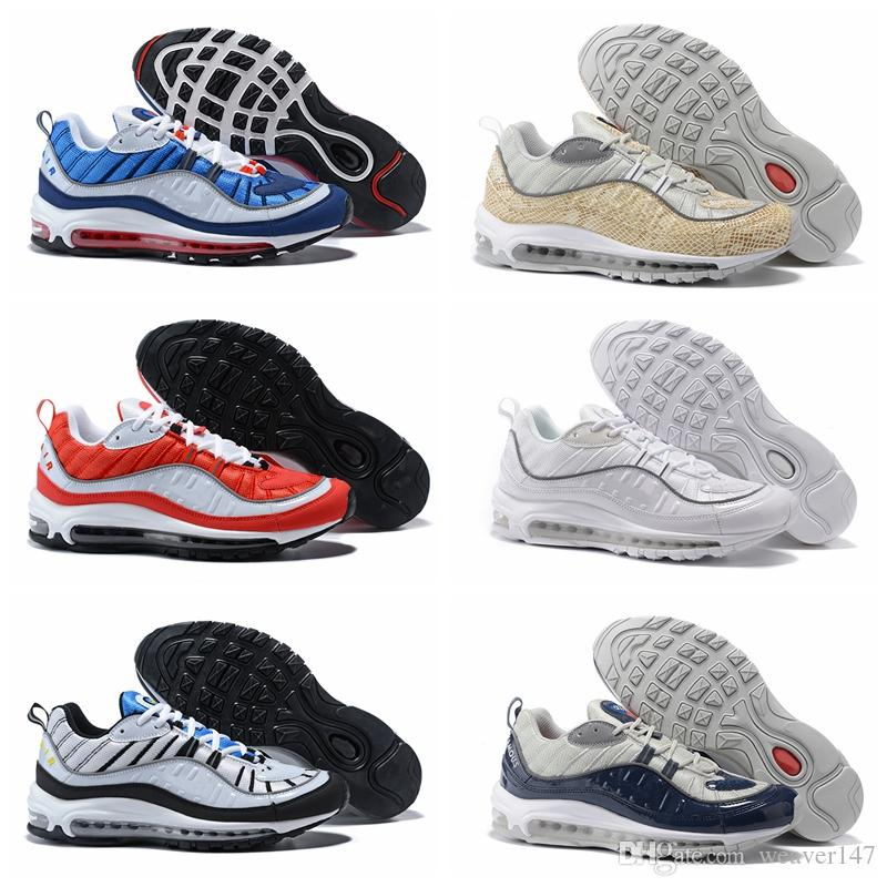 2018 New Arrival Fashion 98 Gundam Sports Running Shoes for High quality Men's 98s White Blue Red Black Outdoor Athletic Sneakers Size 100% authentic cheap online dntjlsm