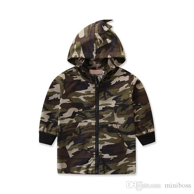 c8f26bfc7 Spring Autumn Camouflage Long Sleeve Kids Thin Jacket Casual ...