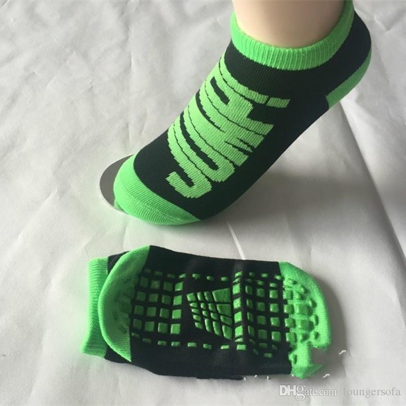 Kid Adult Anti Friction Bounce Yoga Socks Amusement Place Non Slip Trampoline Socks Non Slip Glue 2 5mm WW