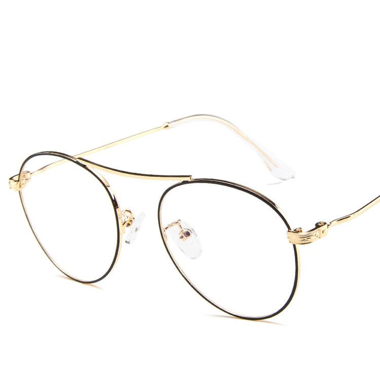 8fdc6c6773 Round Vintage Eyeglasses Frame Glasses Eye Wear Optical Frame Men ...