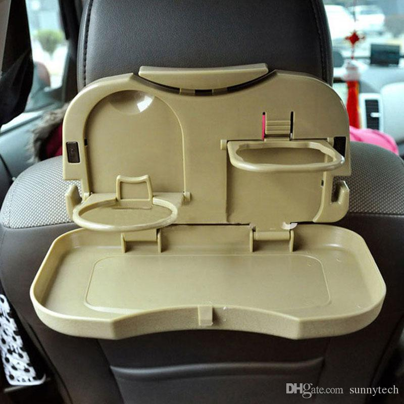 Folding Auto Car Back Seat Table Drink Food Cup Tray Holder Stand Desk Car Dining Table Storage Rack ZA5735