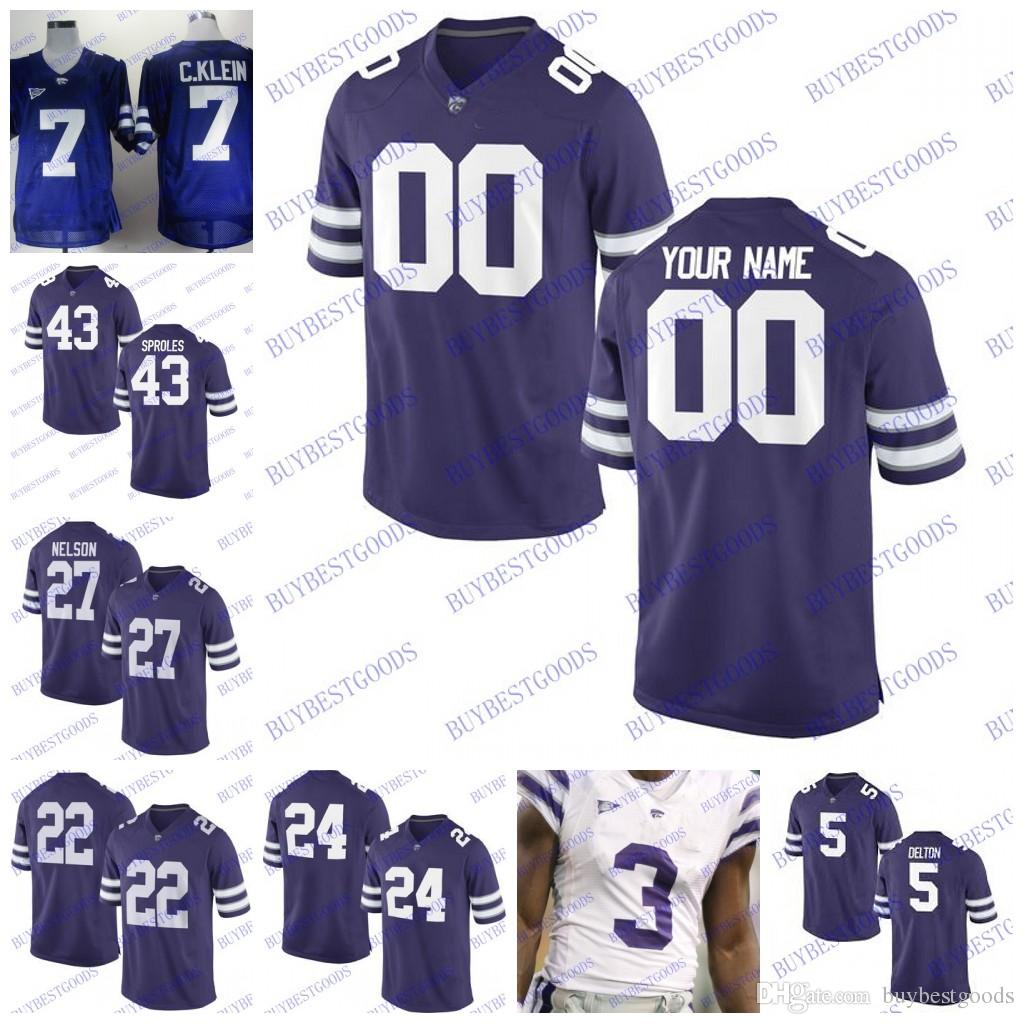 ed092719a42 2019 Custom Kansas State Wildcats College Football Any Name Number  Personalized #5 Alex Delton Jerseys Men Women Kids Stitched From  Buybestgoods, ...