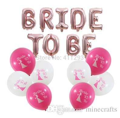 34fba5f4cc7 Bride To Be Balloon Bridal Shower Balloons Bachelorette Party Decorations  Rose Gold Bride To Be Letter Banners Hen Party Balls Helium Filled Latex  Balloons ...