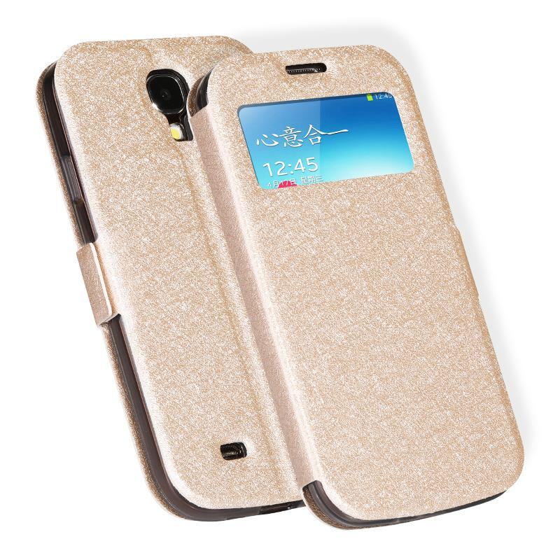 hot sale online a7e07 db4ee Para samsung galaxy s4 i9500 s iv phone case luxo inteligente pu leather  flip case para samsung galaxy s4 case capa coque