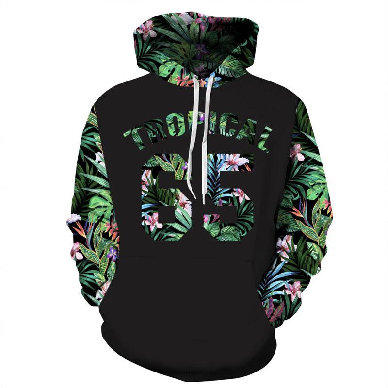 Acheter Green Leaves Hoodies Hommes Femmes 3d Sweat Shirts Imprimer Nombre  65 Lettres Fleurs Hoodies Sweatshirts Graphique De  53.81 Du Kaseller    Dhgate. 680eca67393e