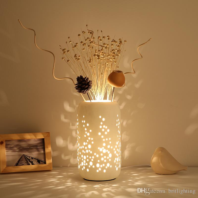 2018 chinese ceramic table lamp bedroom dry flower table light new 2018 chinese ceramic table lamp bedroom dry flower table light new classical coffee bar table lamp living room restaurant modern led desk light from aloadofball Image collections