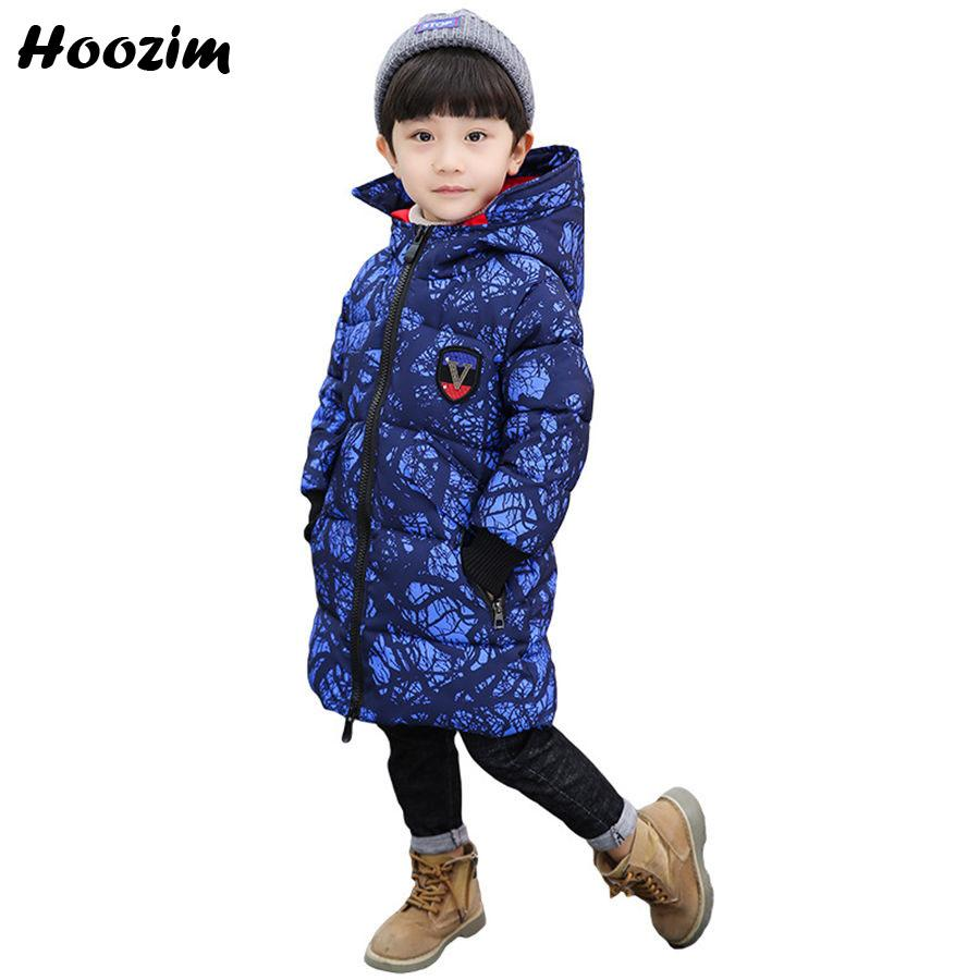 65350284f1d3 Winter Long Jackets For Boys 8 9 10 11 Years Fashion Letter Thick ...