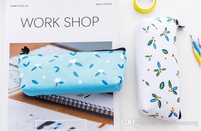 Exquisite student pen bag nice canvas pencil case cute print pencil bag