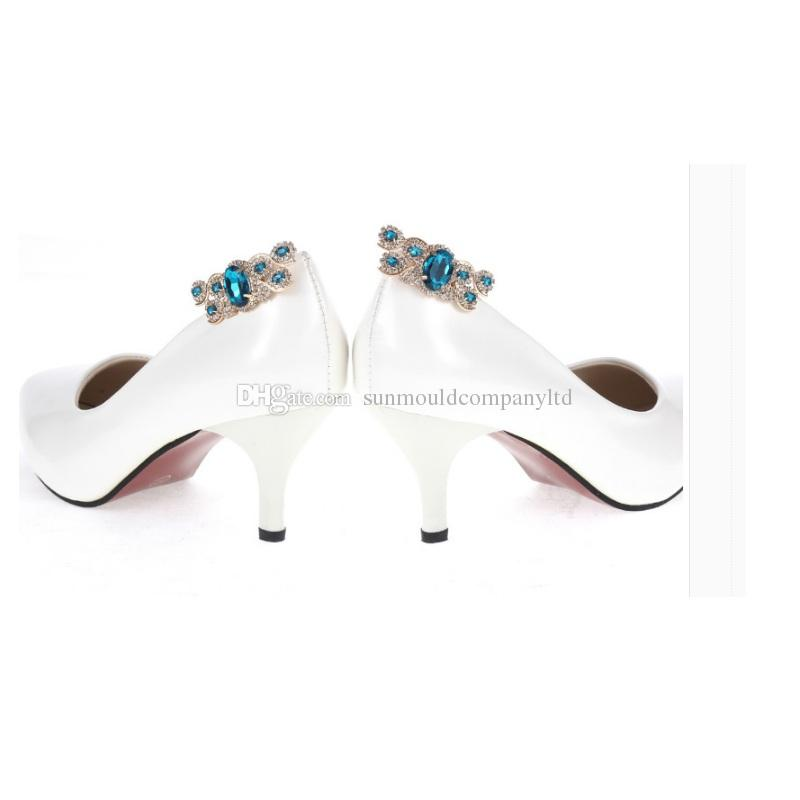 NEW woman shoes flower charms high-heel pumps flats accessories crystal diamond flats shoe clips Fashion shoes bag hat clips decoration