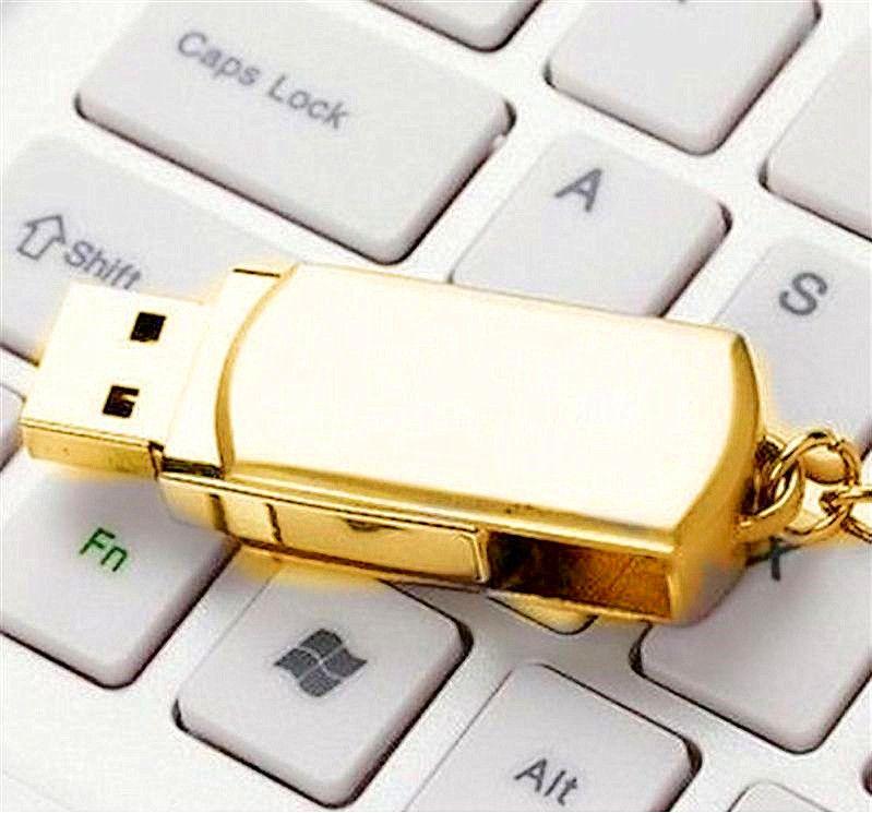 64 GB 128 GB 256 GB USB 2.0 Anahtarlık Paslanmaz Çelik Metal Anahtarlık Döner USB Flash IOS Windows Android için Memory Stick Sürücüler