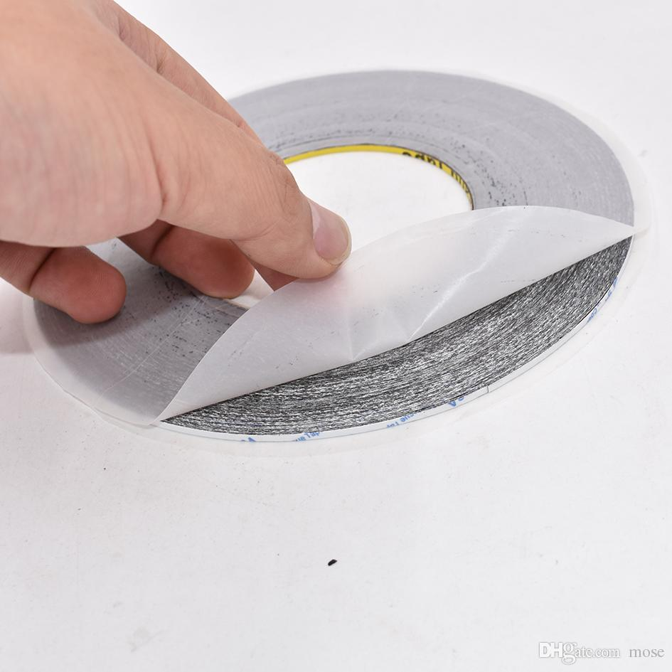 Original 2mm 3mm Black Double Side Adhesive Tape for Mobile Phone Touch Screen LCD Display Glass Repair Length 50meter/Reel