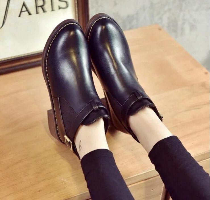 Großhandel Großhandel Großhandel Frauen Hohe Stiefel Leder Chelsea Stiefel Schwarz High ab3c7e