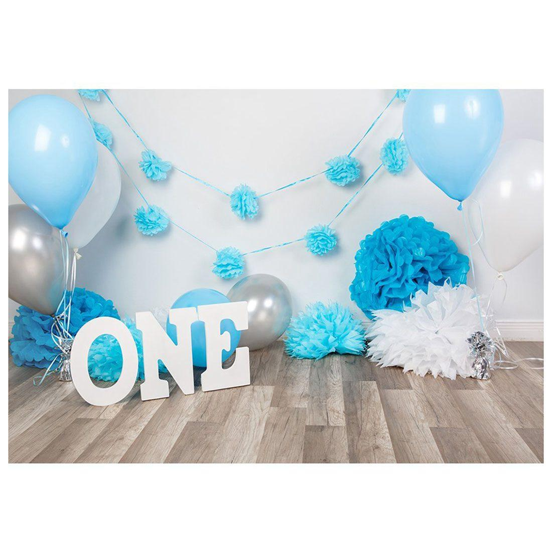 2019 7x5ft Photography Backdrops Baby Boys 1st Birthday Blue Balloons Flowers Party Banner Studio Booth Background Photocall From Prudenco 2266