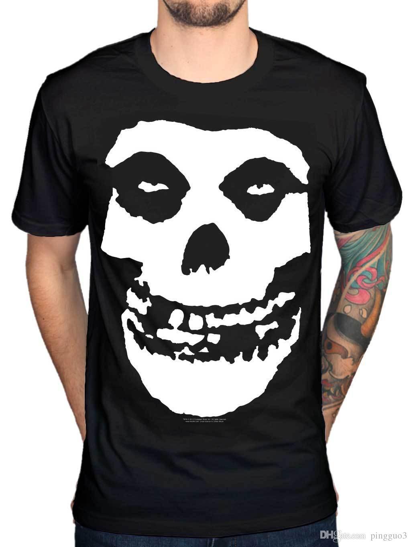Official Misfits Skull T Shirt Half Dead Woman Skeleton Fiend Die