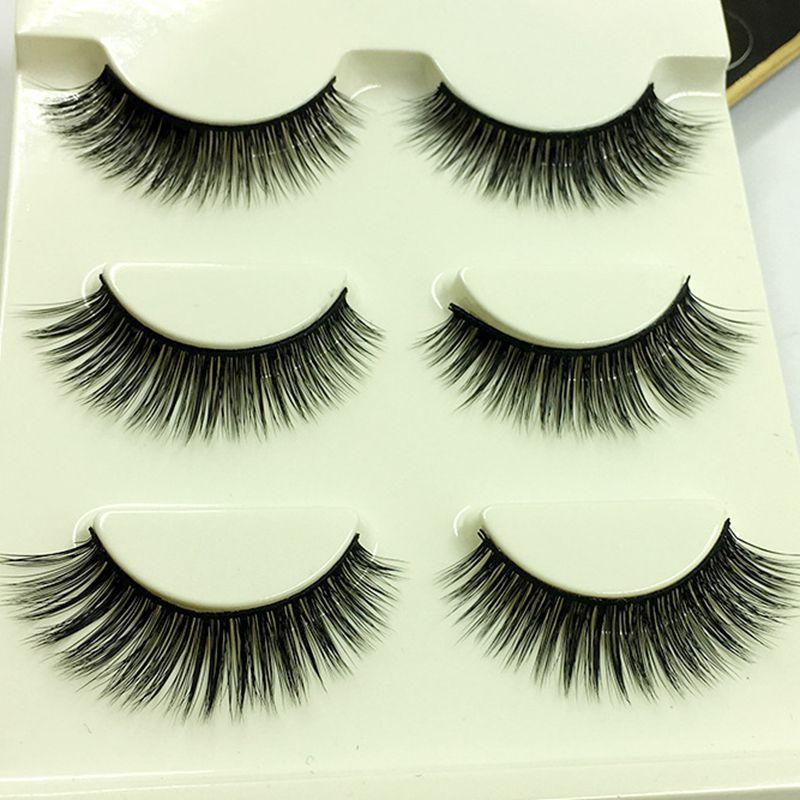 Fake Eyelashes Long Thick Eye Make Up Lashes Handmade Factory Direct