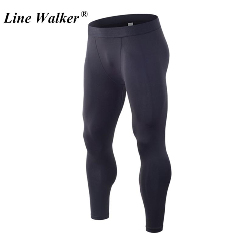 adc117219bf73 2019 Line Walker Black Compression Fitness Pants For Men Sport Gym Tights  Trousers Running Leggings Basketball Cycling Sportswear From Dinaha, ...