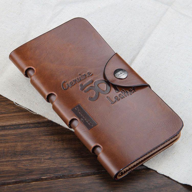 New Vintage PU Mens Portafoglio lungo Fine Bifold 4 Stili PU Carta di credito in pelle Fresco tri fold Portafoglio uomo A084
