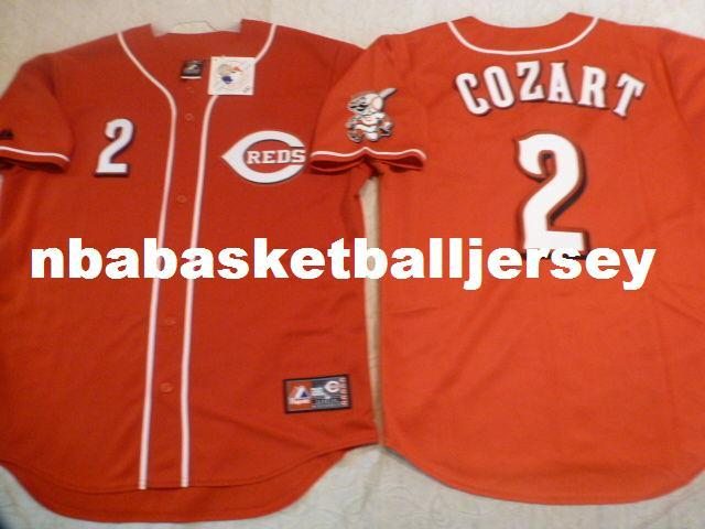 d337ae40f ... discount code for online cheap cheap custom majestic 2 zack cozart sewn  baseball jersey w red