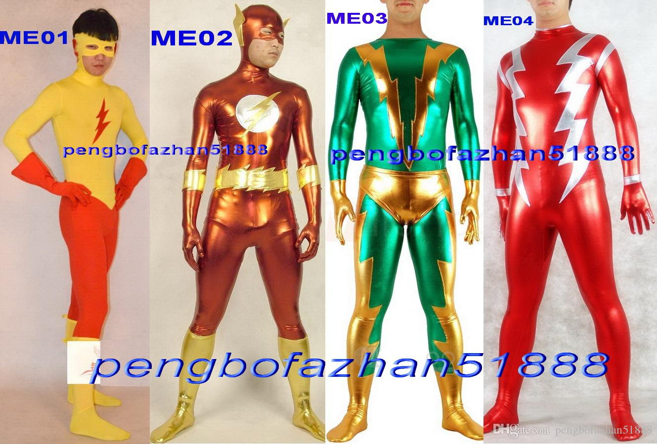 Fantasy 4 Style Superhero Flash Suit Outfit Unisex Flash Body Suit