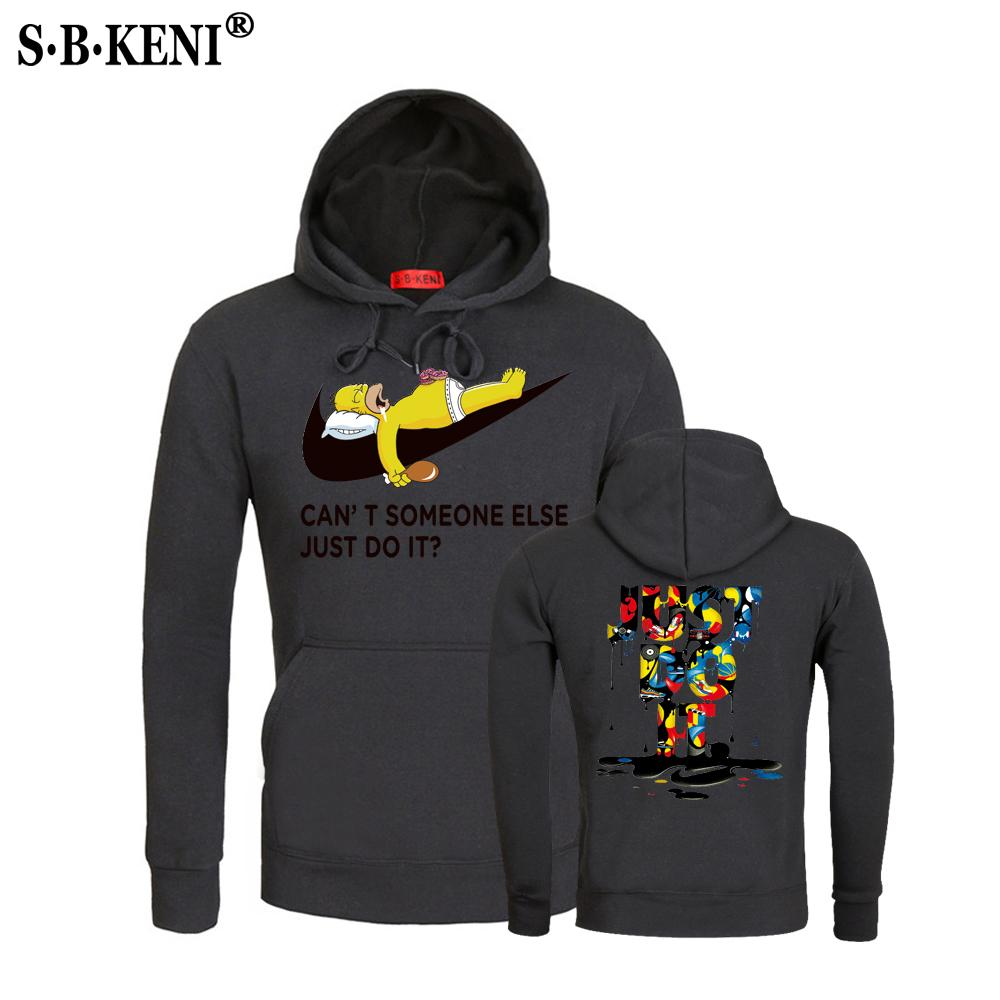 Gradient Color Just Do It Hoodies Cotton Polyester Funny Print Hoodie Manwomen Fashion Brand Clothes Casual Sweatshirt Fortnite