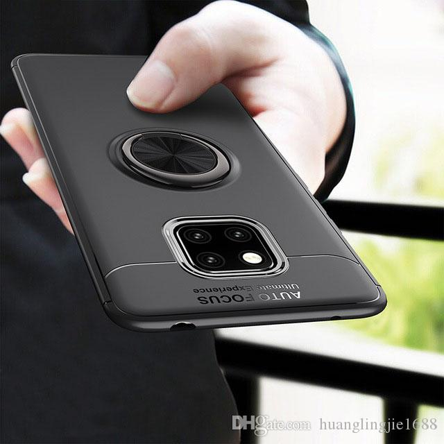 the latest 872e3 8fdb7 For Huawei Mate 20 Pro Case Mate20 Car Holder Stand Magnetic Bracket Finger  Ring TPU Case For Huawei Mate 20 Coque Capa