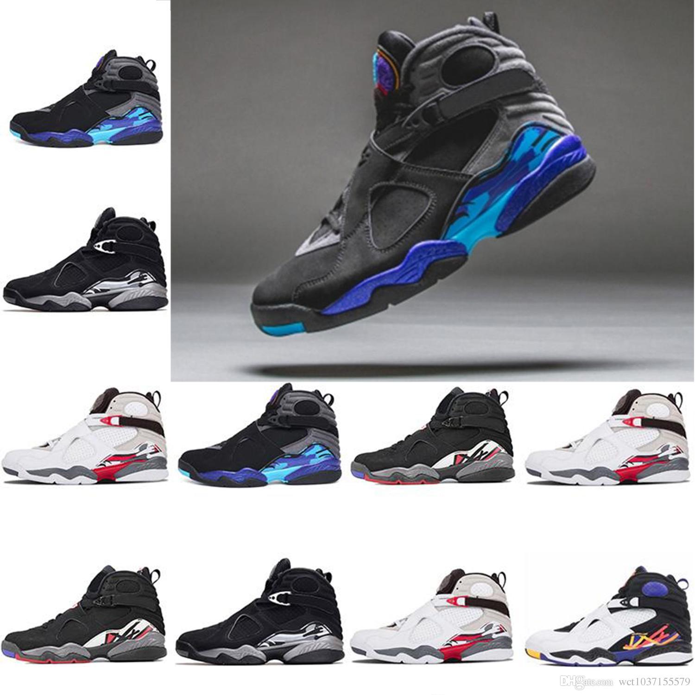 b83d57824f0 2018 Mens New Designer 8 8s Aqua Chrome Basketball Shoes Countdown ...