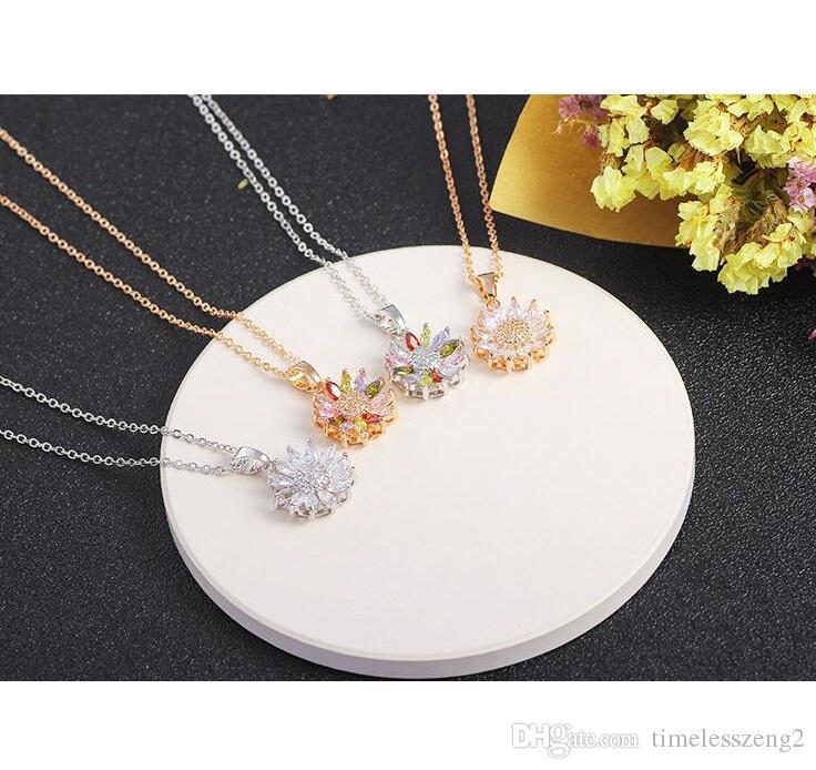 Corea del estilo de la suerte collar colgante guirnalda con cadena de cristal clavicular cumpleaños día de san valentín bonitos regalos nave libre