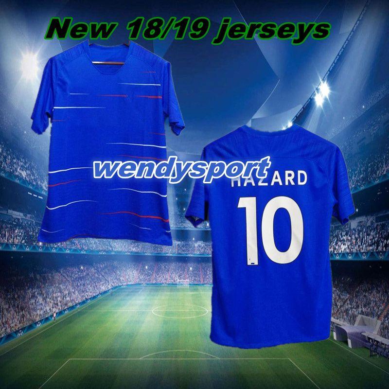 promo code bebe4 6f911 Free shipping 18/19 soccer jersey MORATA Hazard BAKAYOKO RUDIGER jersey  2018 football shirt kit Fabregas KANTE top quality