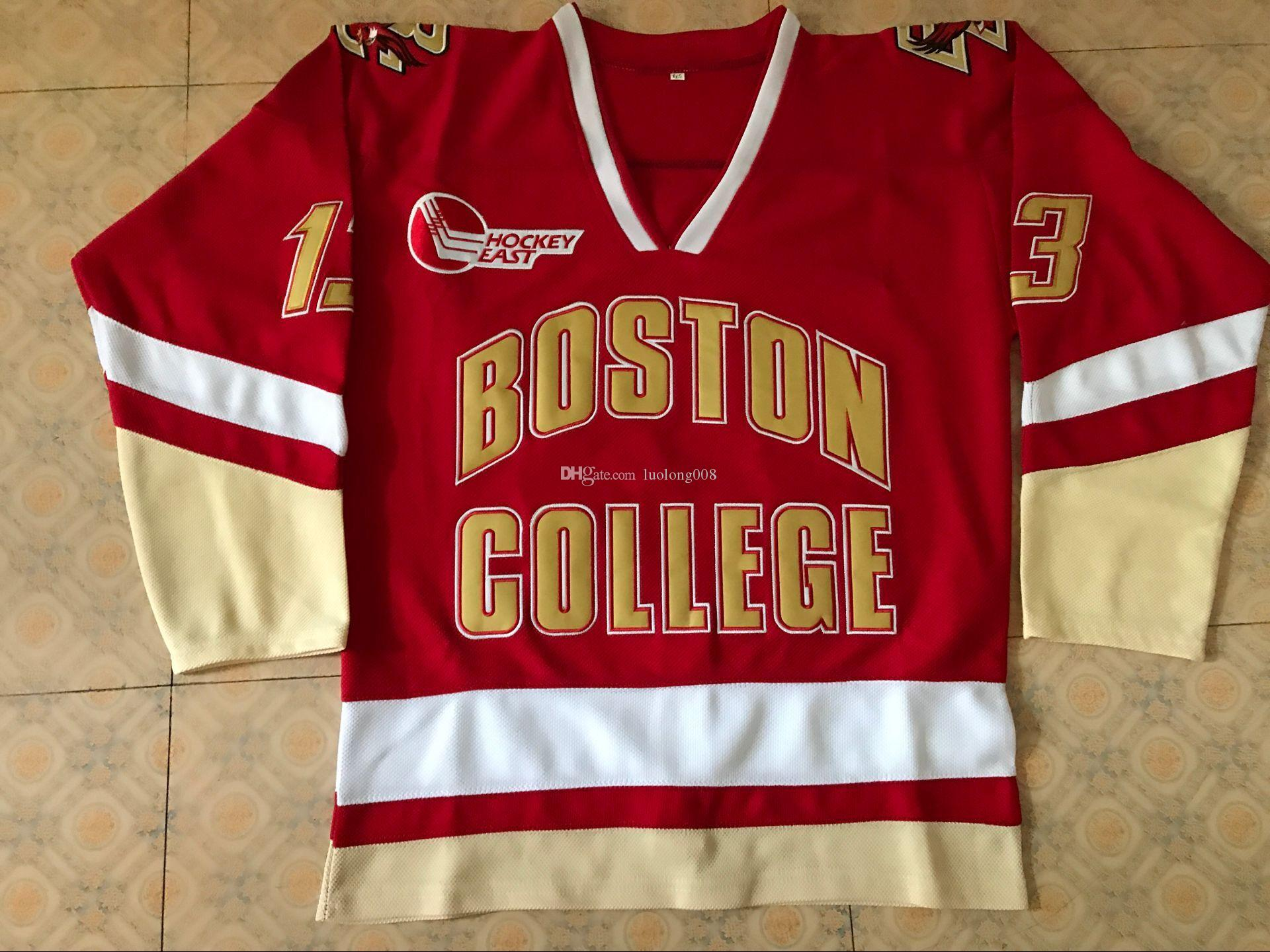 separation shoes bcd1f 3e8a2 Vintage #13 JOHNNY GAUDREAU BOSTON COLLEGE EAGLES Hockey Jersey Embroidery  Stitched Customize any number and name Jerseys