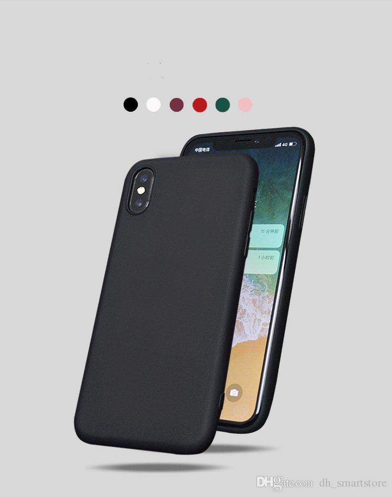 Fitted Case for iphone xs max xr x 10 6s plus Silicone Soft Silicone TPU Back Cover for iphone X 7 8 plus 7plus 8plus Scrub matte phone case