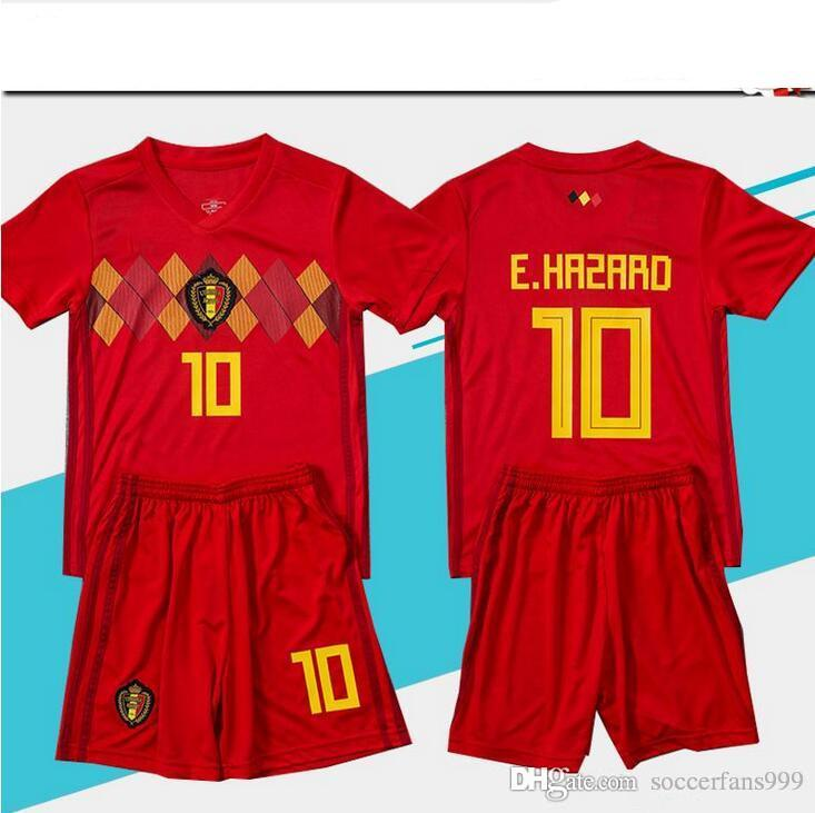 2018 World Cup Belgium Soccer Jersey Kids Kit 18 19 Belgique Home AYAY  HAZARD Belgien Child Soccer Shirts Uniform Maillot De Foot UK 2019 From  Soccerfans999 ... ea862ecdc