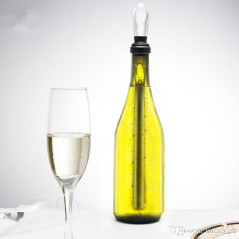 Enfriamiento de la botella de vino Enfriadores enfriados Enfriador de hielo Enfriador Varilla y Pourer Enfriadores de vino de acero inoxidable Enfriadores Congelador envío rápido