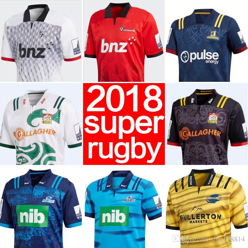 a6ec6f8905d 2018 New Zealand Super Rugby jersey Blues Chiefs Crusaders Highlanders  Hurricanes home away football jerseys size S-3XL