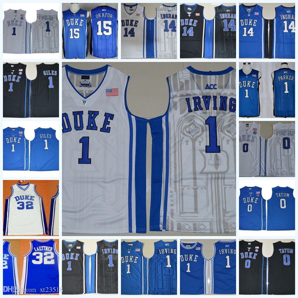 newest 446a7 aeed2 2019 NCAA Duke Blue Devils Kyrie Irving College Basketball Jersey Jayson  Tatum Harry Giles Brandon Ingram Christian Laettner Jahlil Okafor Duke From  Xt23518 ...