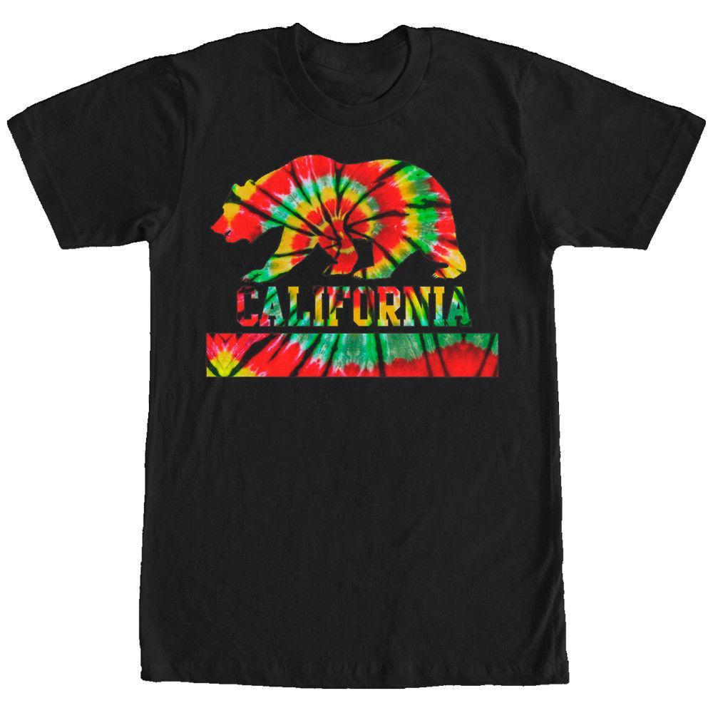 Drapeau À Lost Homme T Graphisme Shirt Imprimé Gods Avec Californien Et Tie Dye Pour 5R34AjLq