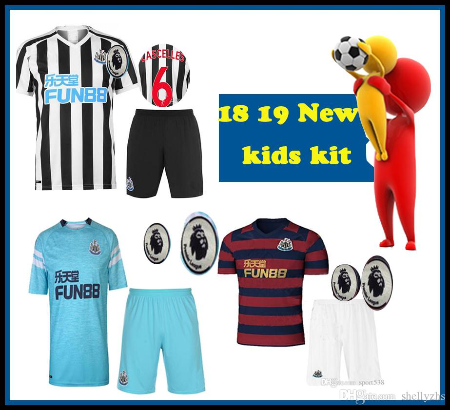 KIDS KIT 2018 2019 TOP THAI Quality Newcastle United Home Third AWAY Soccer  Jersey 18 19 Newcastle United Children Football Shirt Sales 18 19 Newcastle  ... be8d270d59102