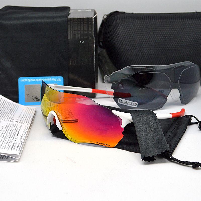 EV ZERO Motion Goggles Bicicleta Polarizing Riding Gafas protectoras Moda al aire libre Tres Lentes Unisex Eyewear Hot Sale 58td WW