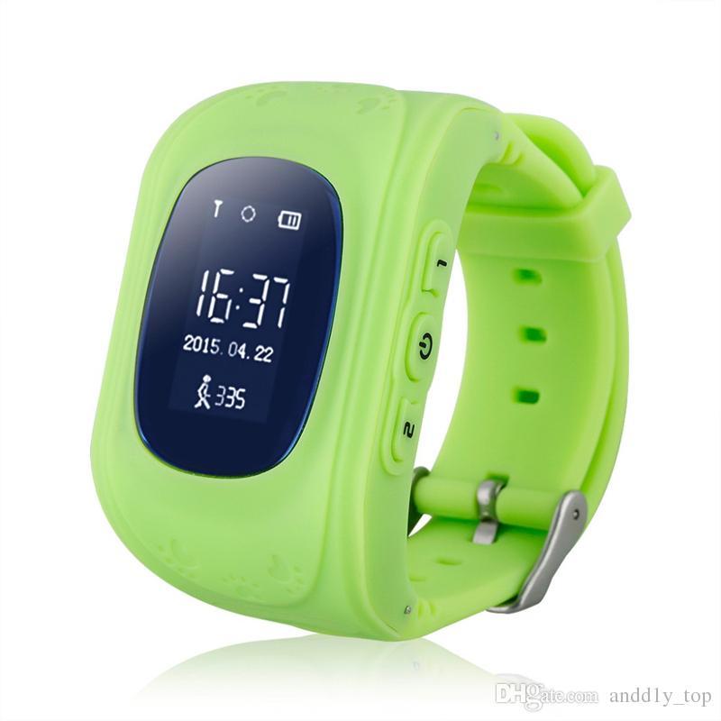 Q50 LCD GPS Tracker pour Enfant Enfant smart Watch SOS Appel Sûr Appel Localisateur Localisateur Trackers smartwatch pour Enfants Enfants Anti Perdu Moniteur