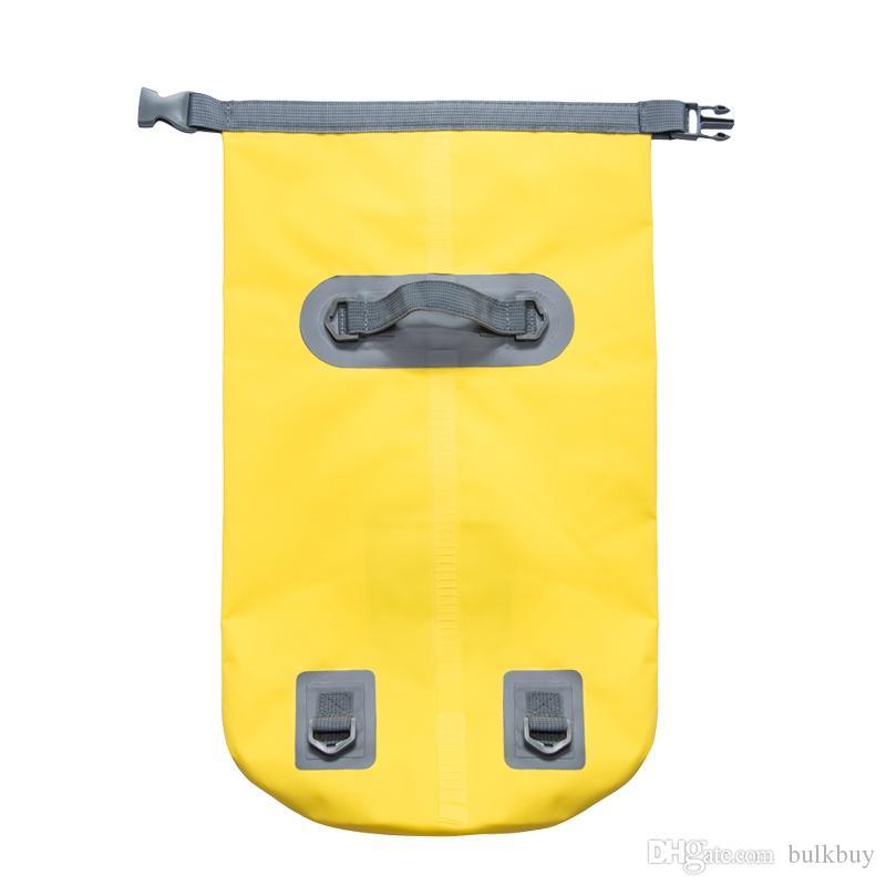 OutdoorWaterproof Dry Bag Plage extérieure double sangles d'épaule PVC bouclée Sac de rangement flottant Voyage Nager Navigation de plaisance Sac de rafting