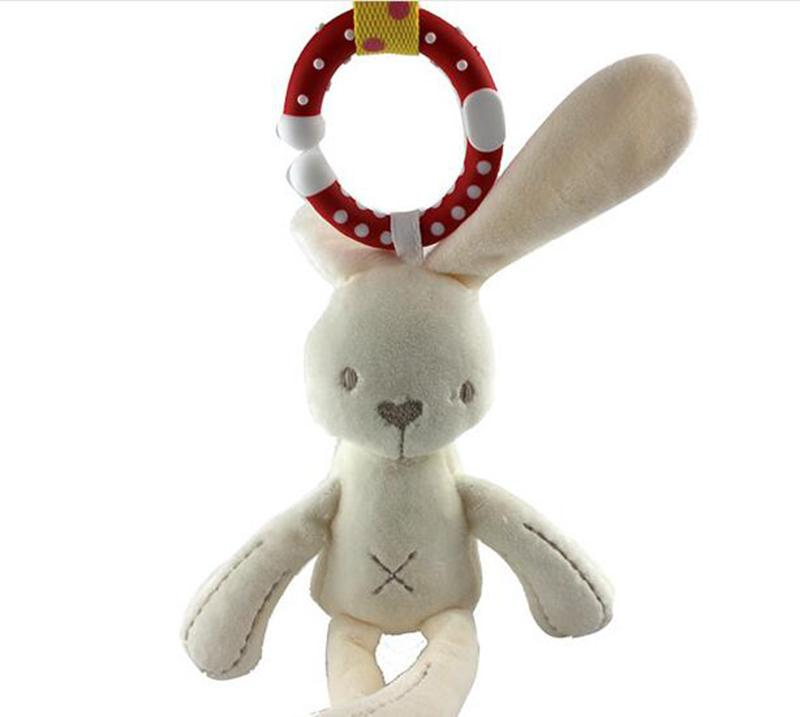 New style 2018 baby carriage hanging rabbit rattling car hanging bed hanging child safety seat pendant stuffed baby toy