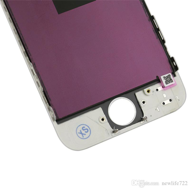 Glass Touch Screen Digitizer LCD Assembly Replacement For iPhone 5 5G Display Black White In Stock DHL Free