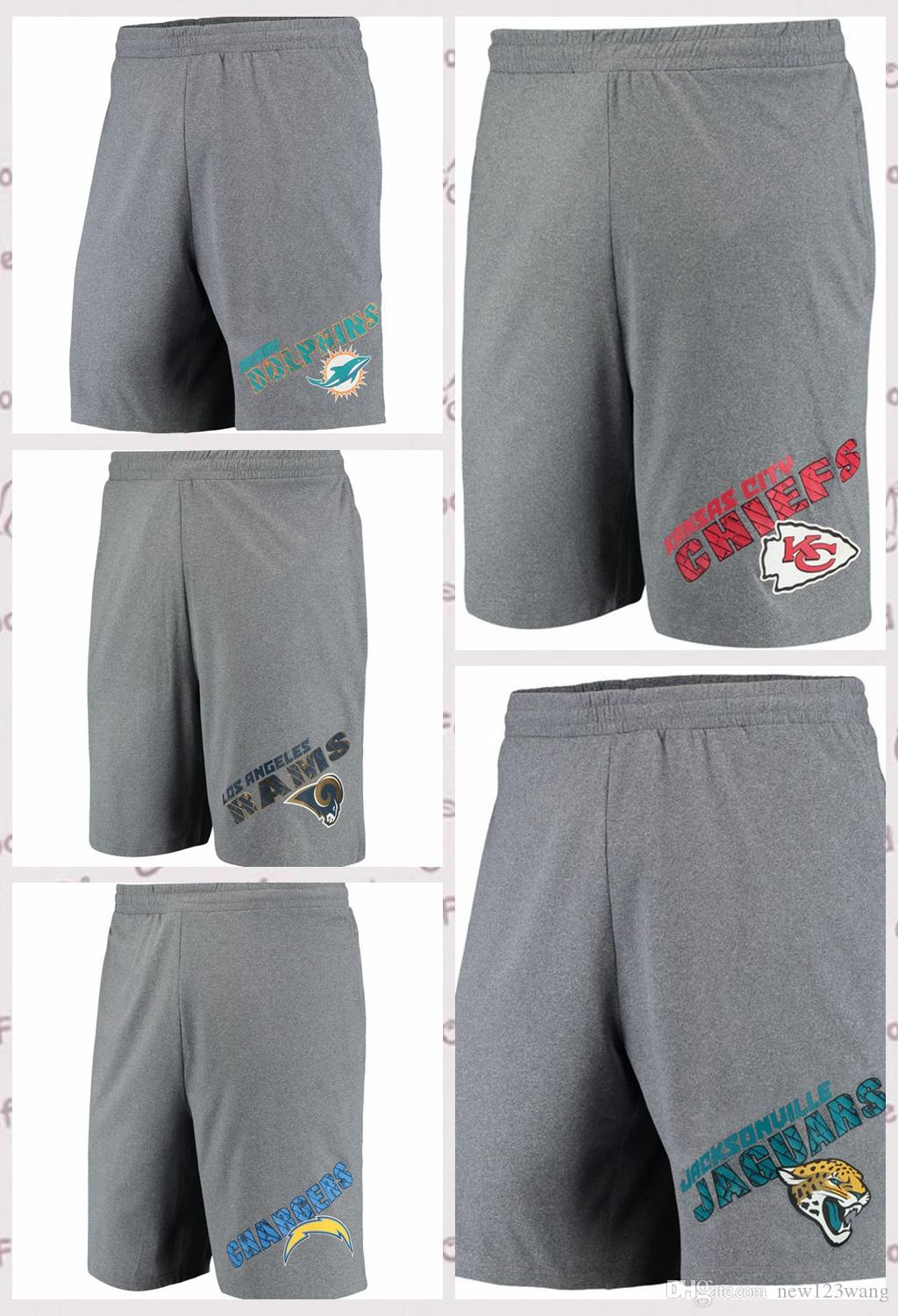 8f743ca0 Miami Dolphins Jacksonville Jaguars Kansas City Chiefs Los Angeles Chargers  Los Angeles Rams Sport Tactic Lounge Shorts Heathered Gray