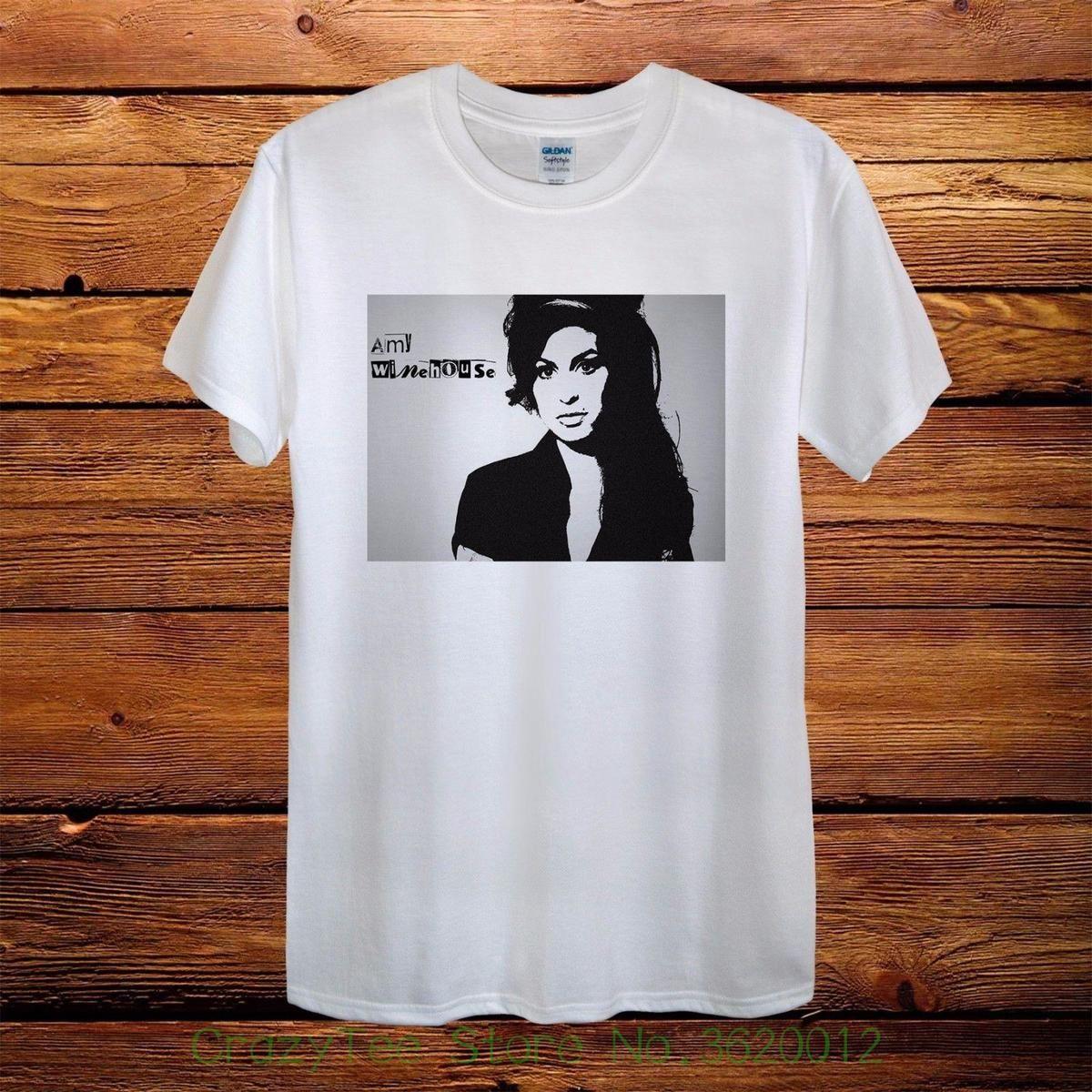 20931c33f9f Compre Camiseta Para Mujer Amy Winehouse Nuevo Diseño Camiseta Para Hombre  Unisex Mujer Equipada Rock 100% Algodón Nueva Bm Camiseta Holgada Con Tops  A ...