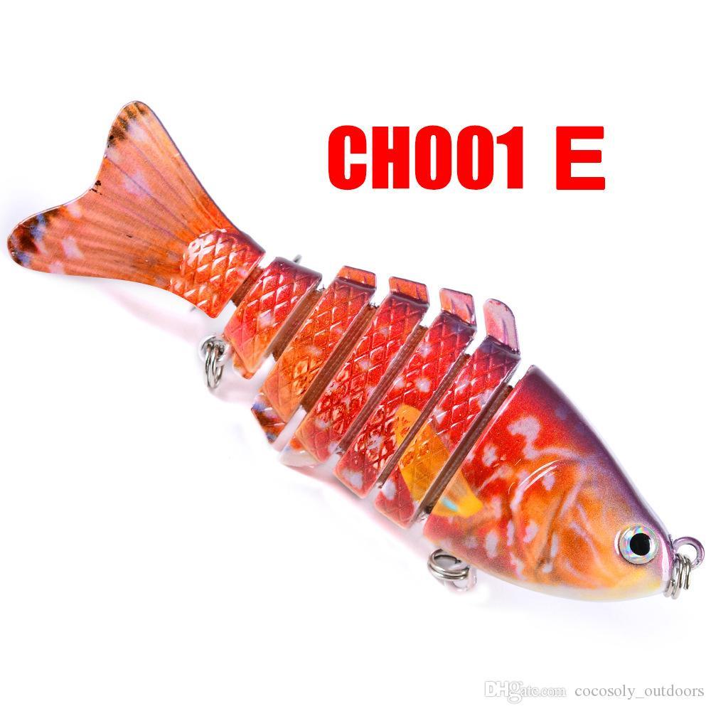 10cm 15.6g Fishing Wobblers 7 Segments Swimbait Crankbait Fishing Lure Bait with Artificial Hooks