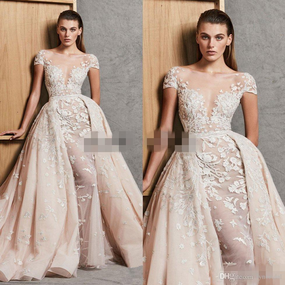 Discount 2018 Zuhair Murad Wedding Dresses With Detachable Skirt A ...
