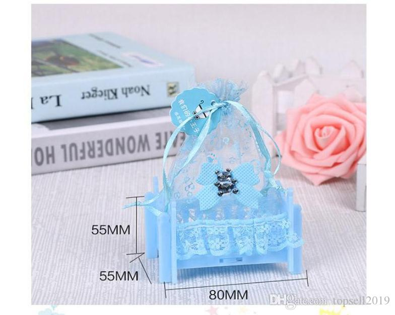 120pcs Birthday Baby Shower Candy Box Wedding Party Supplies Personalized Creative Cradle Type Box Gift Bag SN909